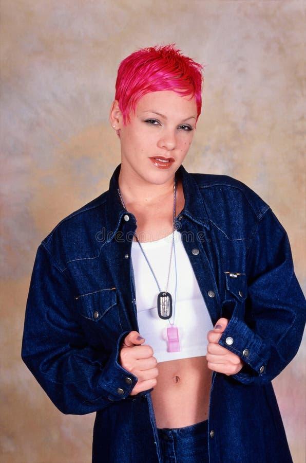 Kvinnlig sångare Pink arkivfoto