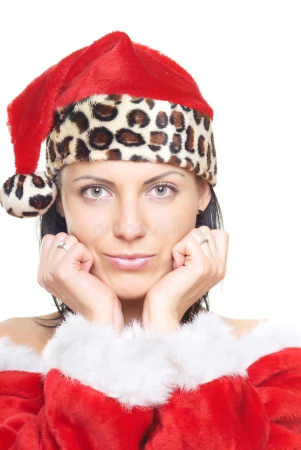 kvinnlig santa arkivfoto