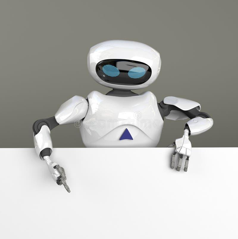 Kvinnlig searth f?r robot i internet, 3d att framf?ra vektor illustrationer