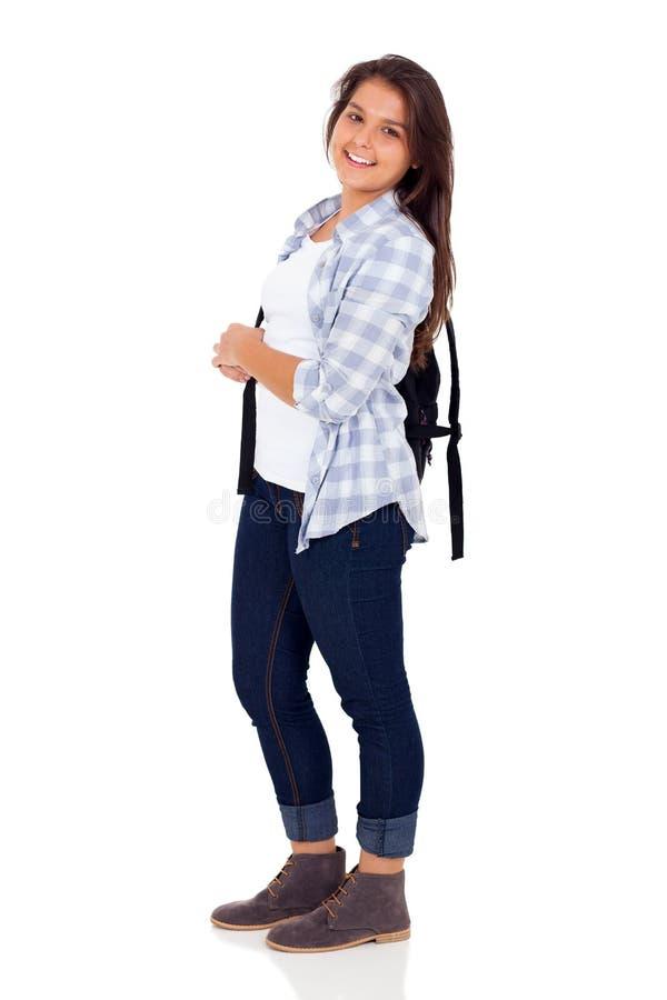 Kvinnlig skolastudent royaltyfri bild