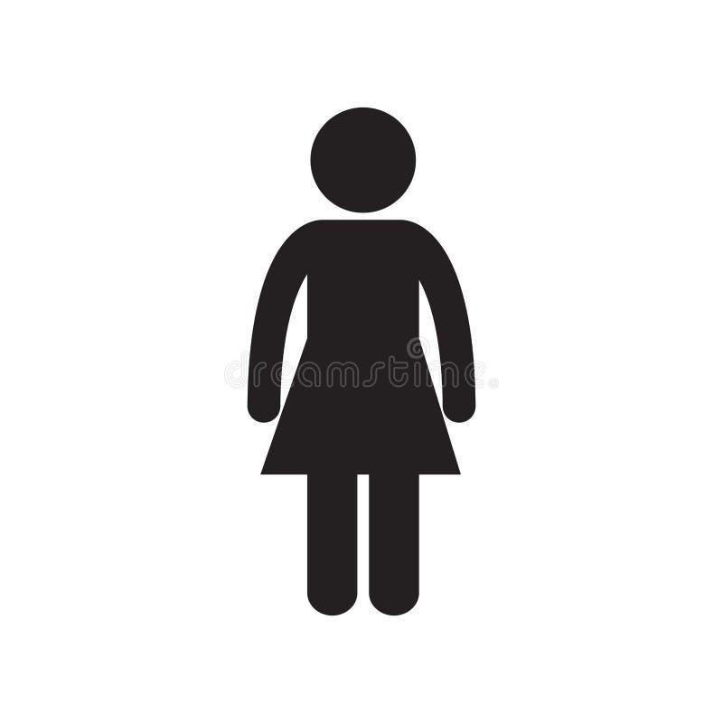kvinnlig stående personvuxen människapictogram royaltyfri illustrationer