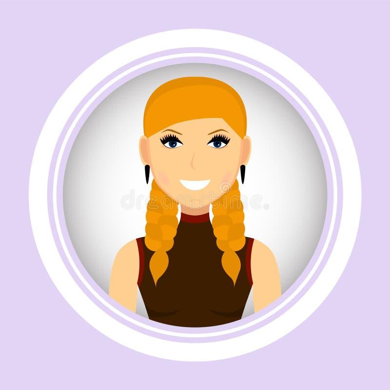 Kvinnlig stående vektor Kvinnaavatar royaltyfri illustrationer