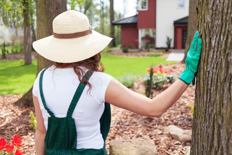 Kvinnlig trädgårdsmästare royaltyfri foto