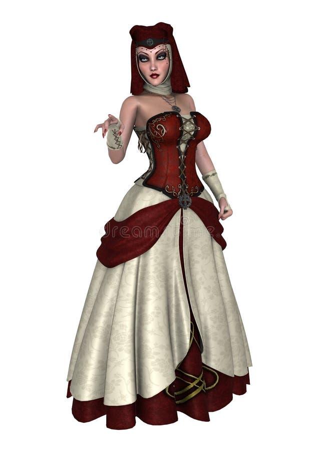 Kvinnlig trollkarl royaltyfri illustrationer