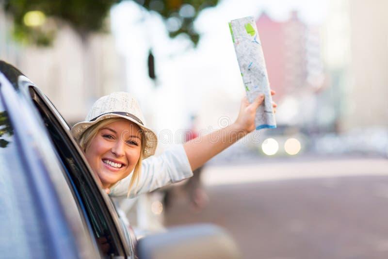 Kvinnlig turist- resande arkivfoton