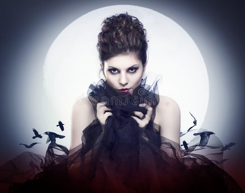 Kvinnlig vampyr arkivfoton
