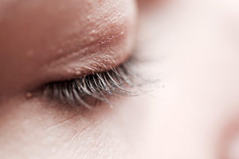 Download Kvinnliga ögonfrans I Svartvitt Fotografering för Bildbyråer - Bild av makeup, closeup: 76703063