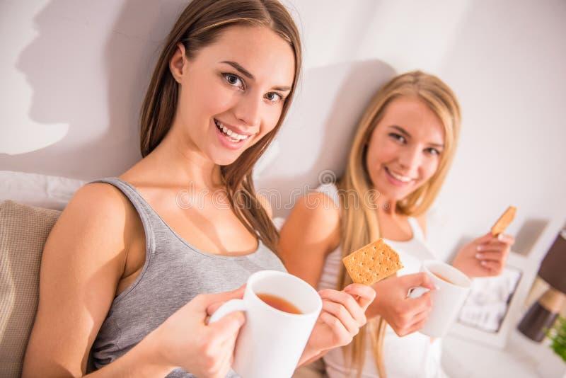 Kvinnliga vänner arkivfoto