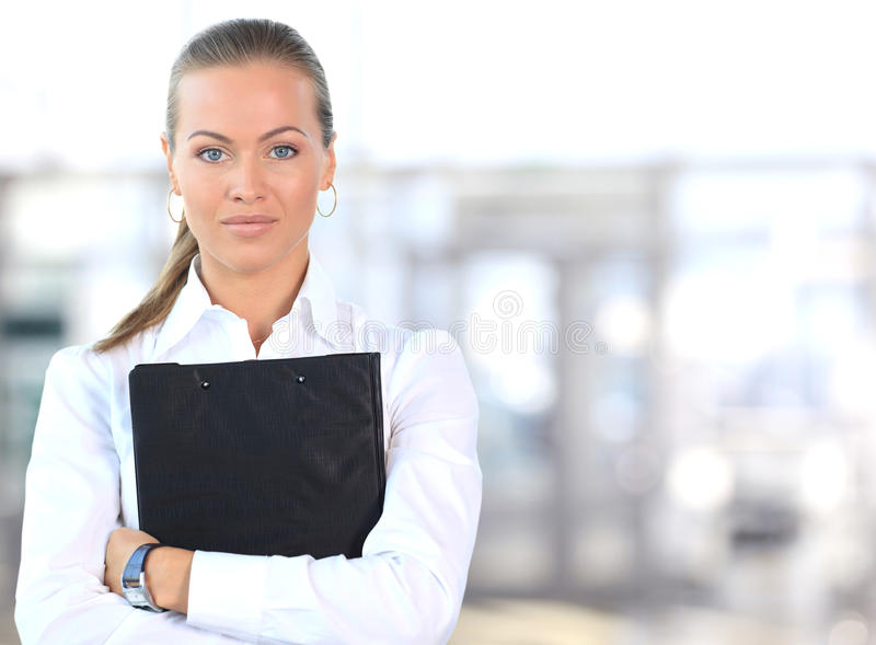 Kvinnligföretagsledare royaltyfri foto