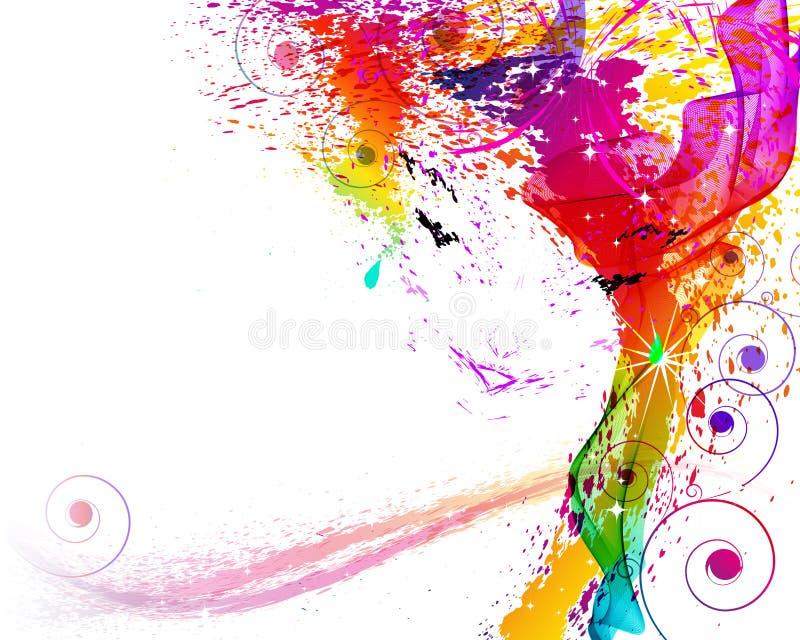 Kvinnligframsidan består ââofgrangeelementet vektor illustrationer