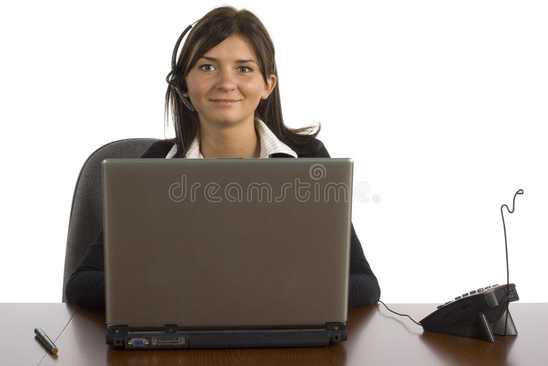 kvinnligkontorsarbetare royaltyfria foton