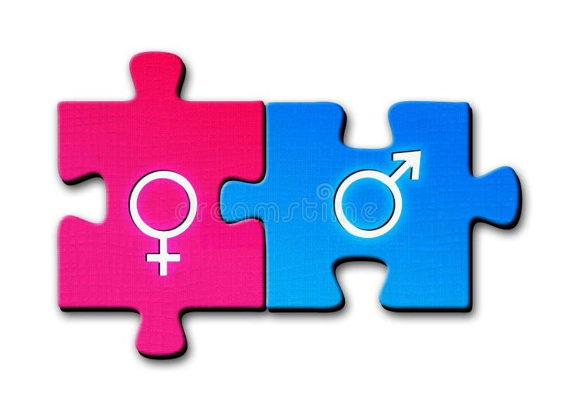 kvinnligmanligsexsymboler royaltyfri foto