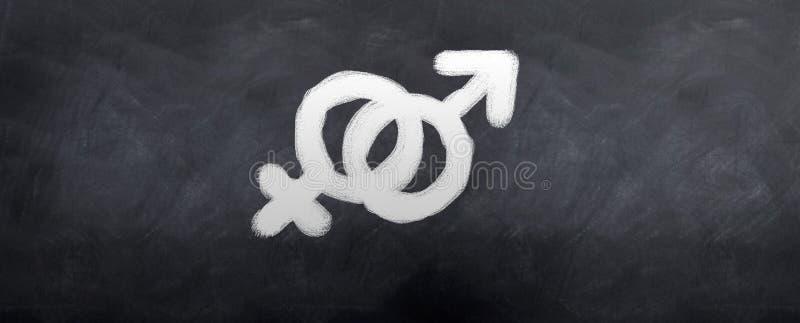 kvinnligmanligsymboler royaltyfri foto