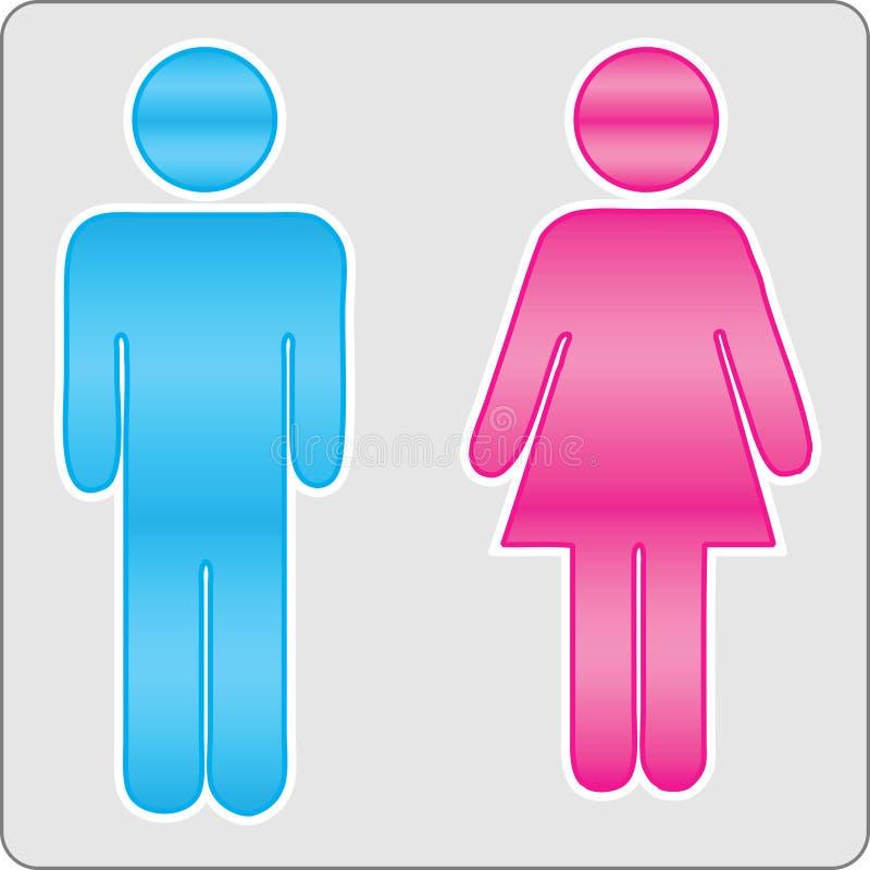 kvinnligmanligtecken stock illustrationer
