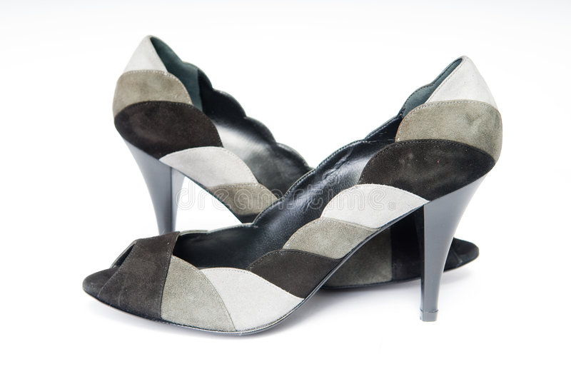 kvinnlign shoes suede royaltyfria foton