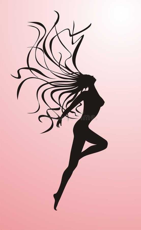 kvinnligsilhouette royaltyfri foto
