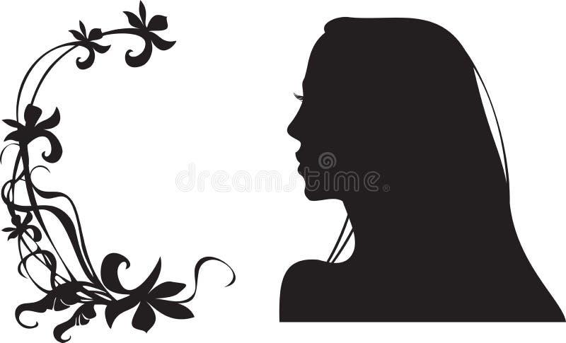kvinnligsilhouette vektor illustrationer