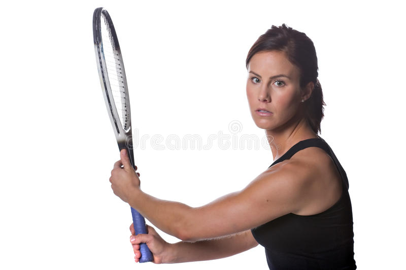 kvinnligspelaretennis royaltyfria bilder