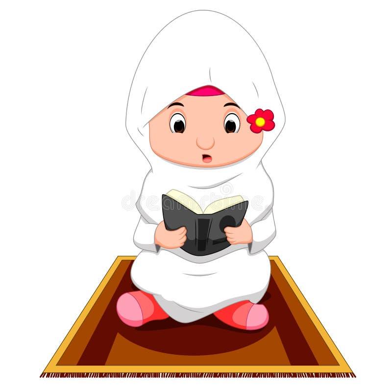 Kvinnligt be för muslim vektor illustrationer
