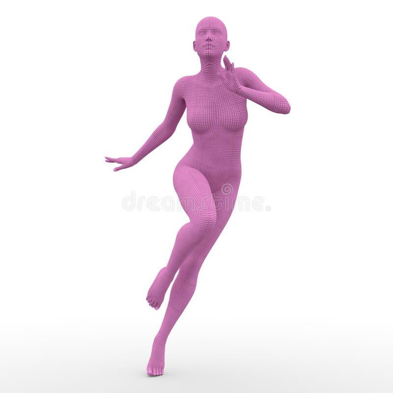Kvinnligt förkroppsliga vektor illustrationer