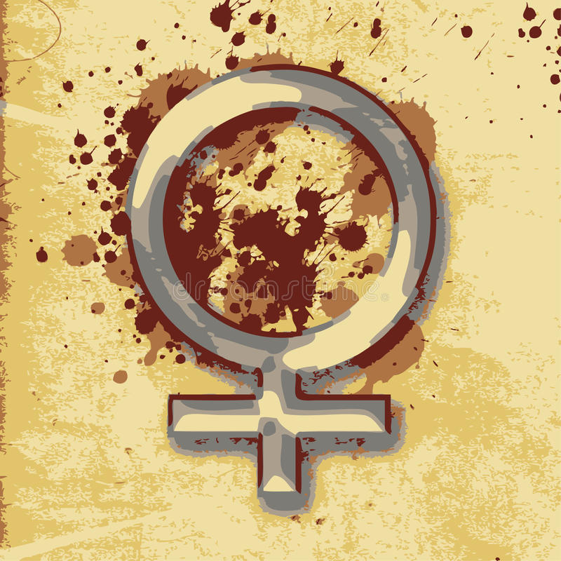 Kvinnligt kvinnatecken royaltyfri illustrationer