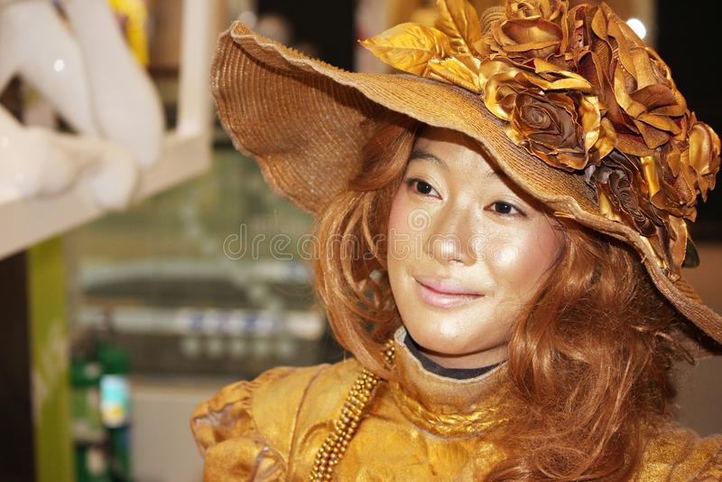 Kvinnligt modellera royaltyfri bild