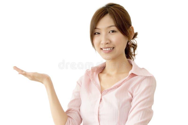 kvinnor för affärshandholding royaltyfri foto