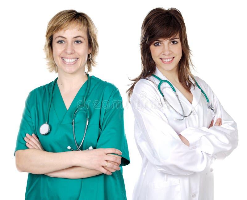 kvinnor för doktor två royaltyfri bild