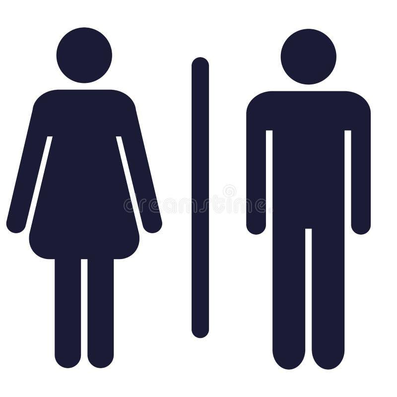 Kvinnor för WC-teckenmän stock illustrationer