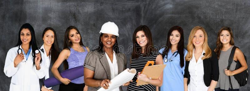 Kvinnor i arbetskraften arkivfoto