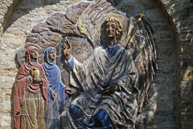 Kvinnor i Kristi Tomb arkivbilder
