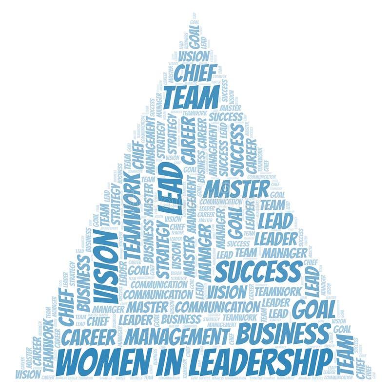 Kvinnor i ledarskapordmoln stock illustrationer