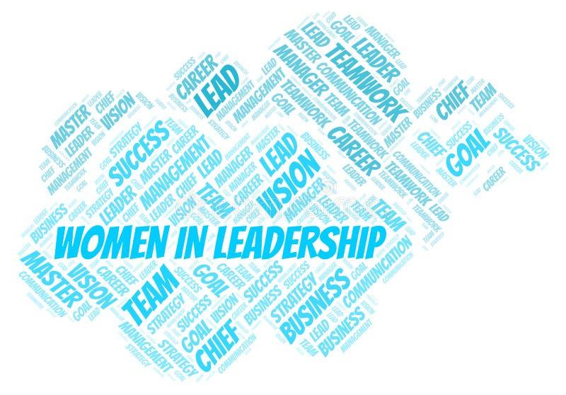 Kvinnor i ledarskapordmoln vektor illustrationer