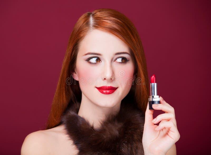 Kvinnor med läppstift fotografering för bildbyråer