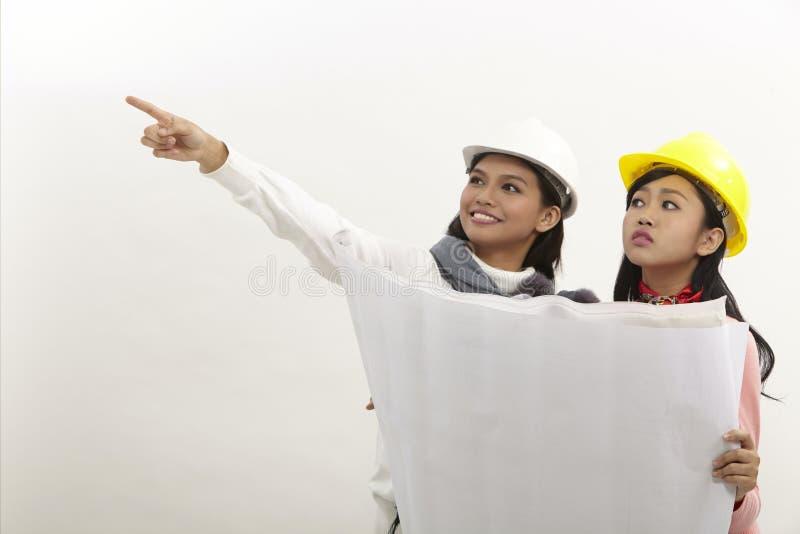 Kvinnor på arbete royaltyfri fotografi