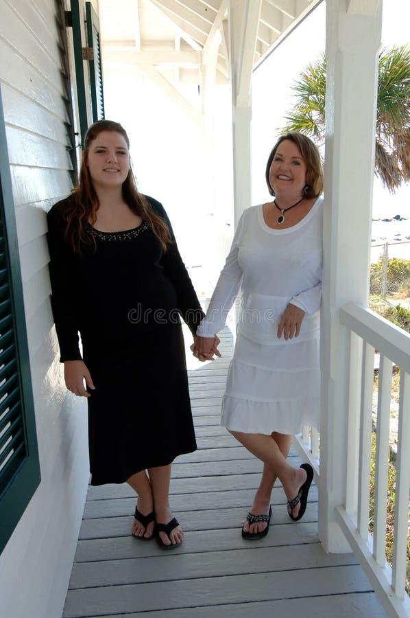 Kvinnor på semester royaltyfria foton