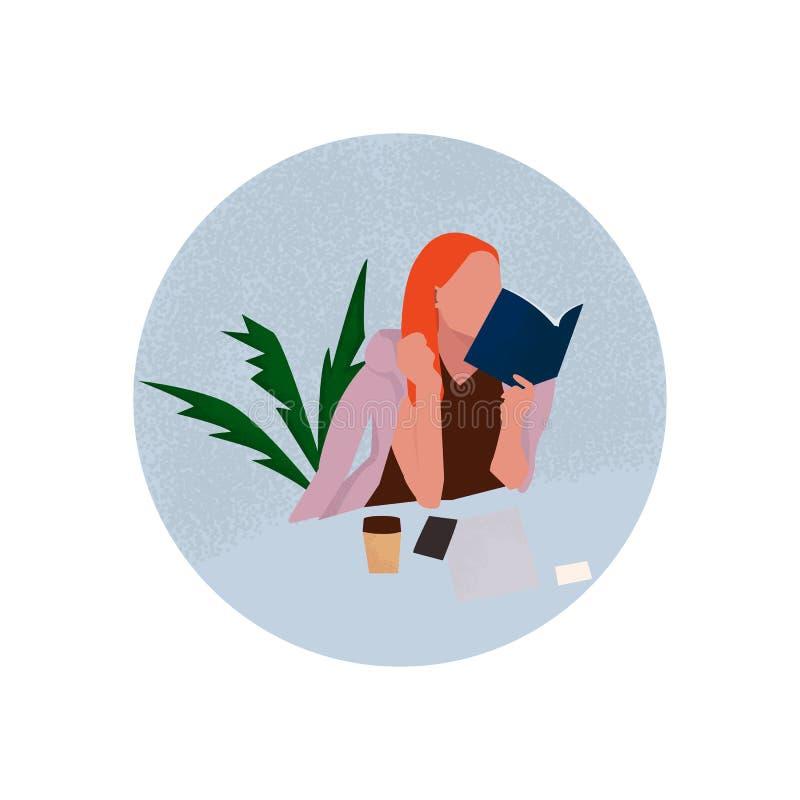Kvinnor som fungerar i kontoret stock illustrationer