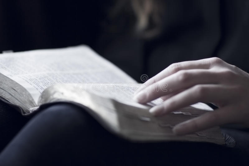 Kvinnor som läser bibeln royaltyfri foto