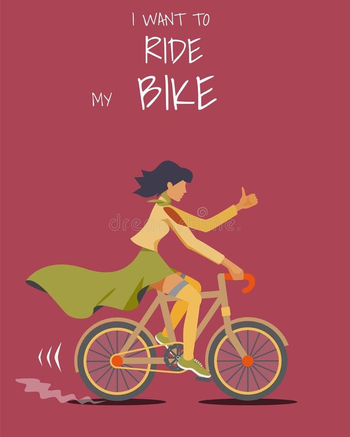 Kvinnor som rider på cykeln arkivfoton