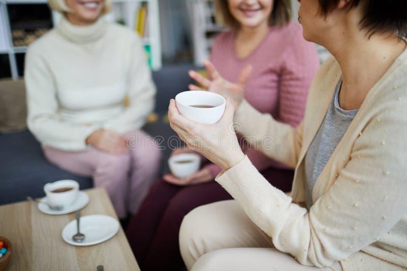 Kvinnor som tycker om te arkivbild