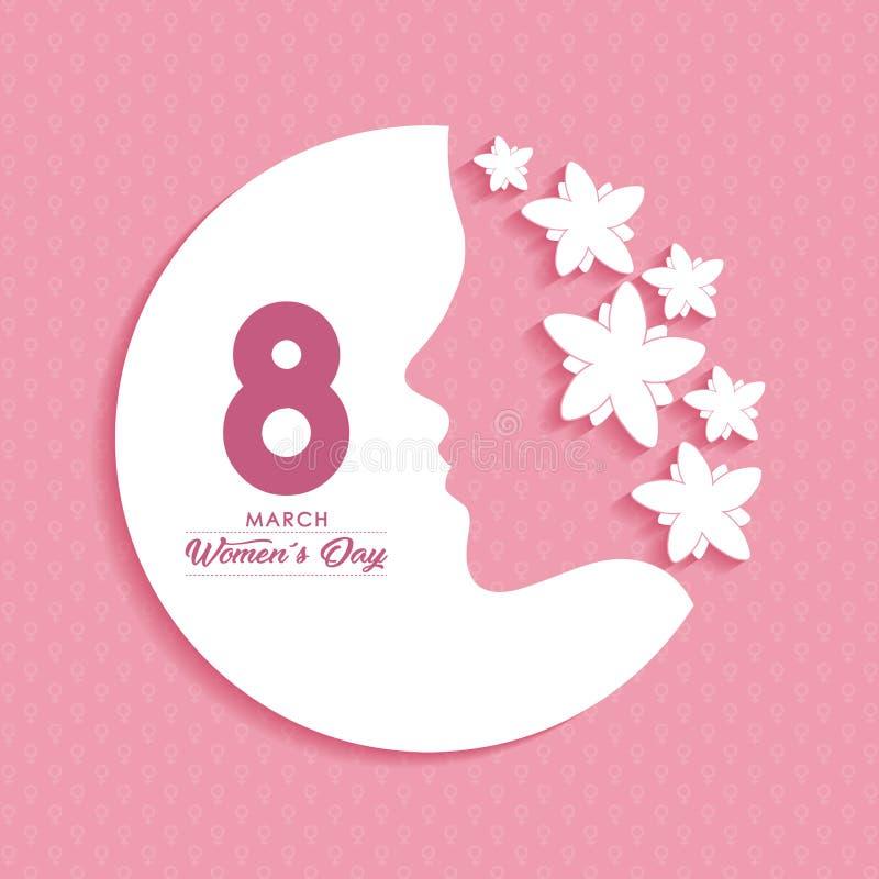 Kvinnors dagdesign stock illustrationer