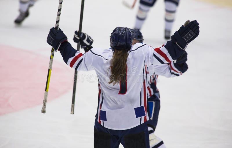 Kvinnors ishockey arkivfoto