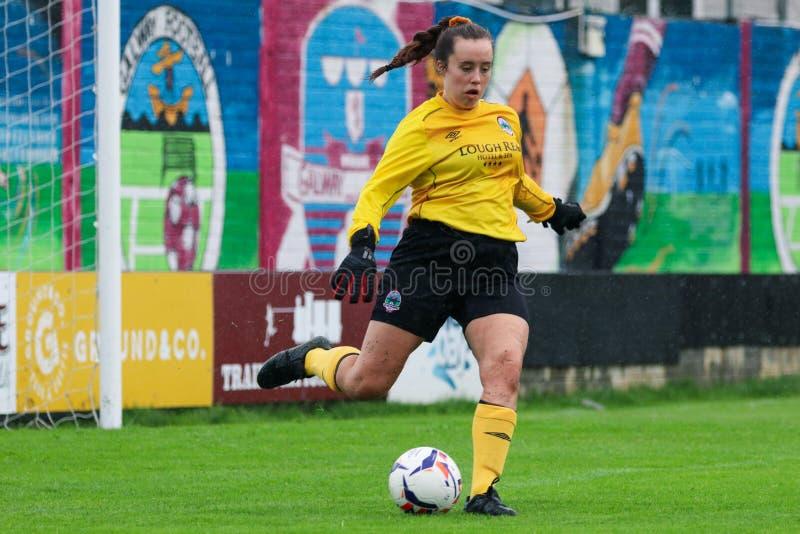Kvinnors lek för nationella liga: Galway WFC vs Peamount förenade fotografering för bildbyråer