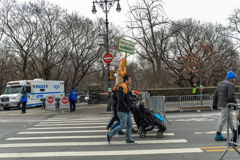 Kvinnors mars 2019 - New York City royaltyfri fotografi