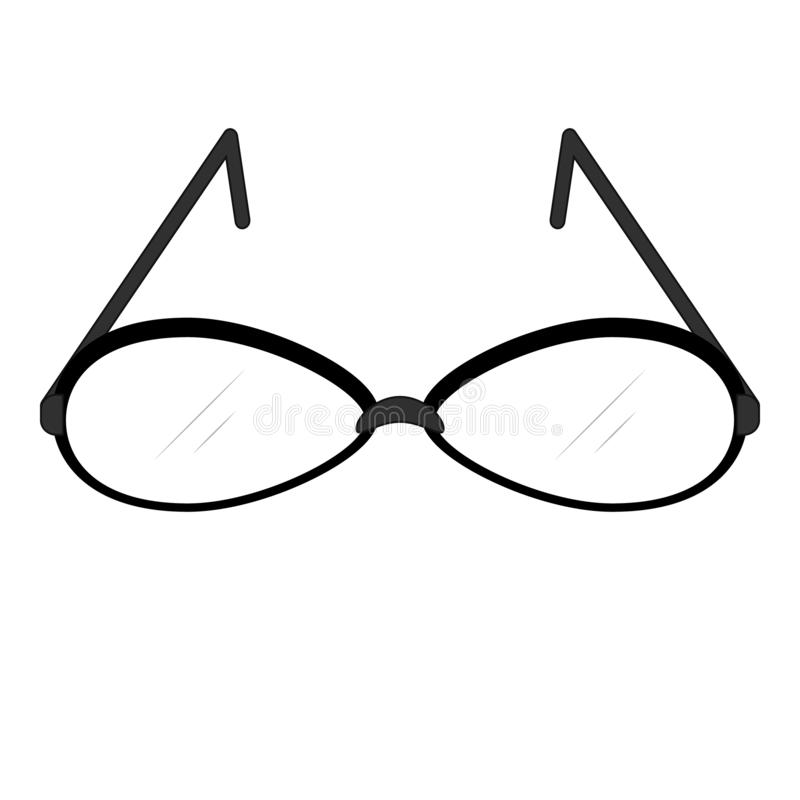 Kvinnors plan symbol för exponeringsglasvektor royaltyfri illustrationer