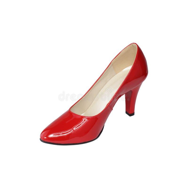 Kvinnors röda stiletter royaltyfria bilder