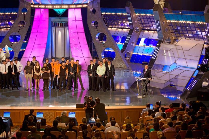 KVN - één van populairste Russische TV-Show royalty-vrije stock foto's