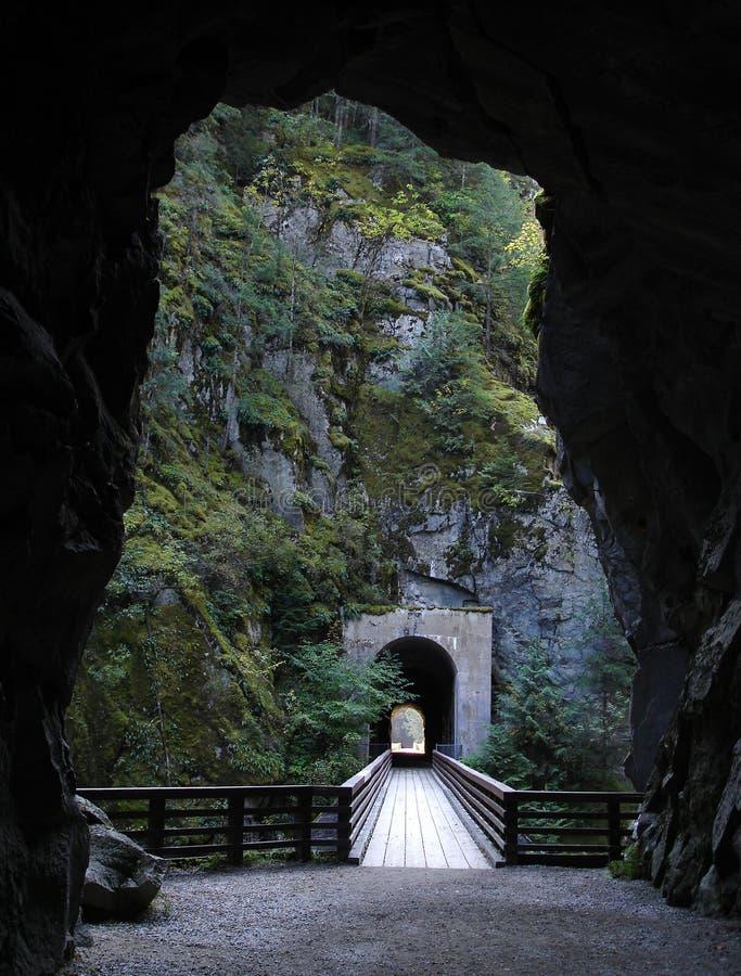 kvr othello铁路隧道 库存照片