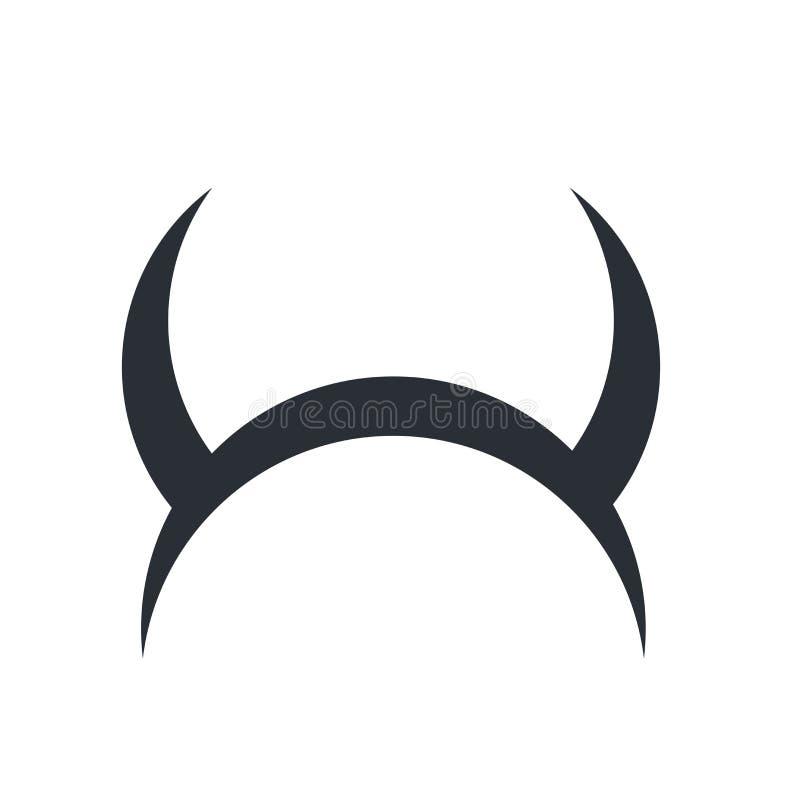 Kwaad pictogram vectordieteken en symbool op witte achtergrond, E wordt geïsoleerd royalty-vrije illustratie