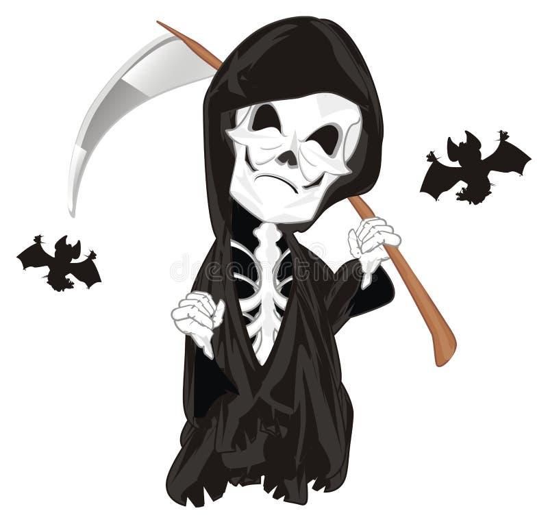 Kwaad skelet met knuppels vector illustratie